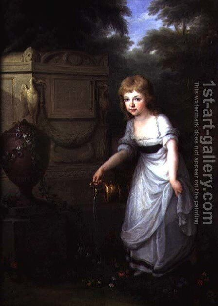 Portrait of Krystyna Potocka by Angelica Kauffmann - Reproduction Oil Painting