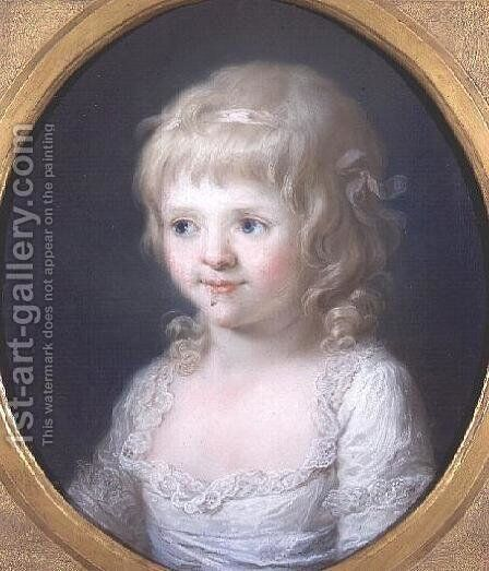 Miss Frances Lust by Angelica Kauffmann - Reproduction Oil Painting