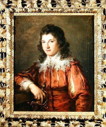Portrait of Thomas Reade by Angelica Kauffmann - Reproduction Oil Painting