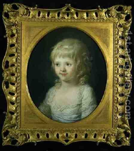 Portrait of Miss Francis Cust by Angelica Kauffmann - Reproduction Oil Painting