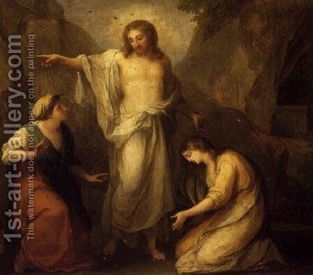 Christ Appearing to Martha and Mary Magdalen by Angelica Kauffmann - Reproduction Oil Painting