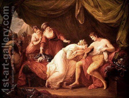 Edward I and Eleanora by Angelica Kauffmann - Reproduction Oil Painting