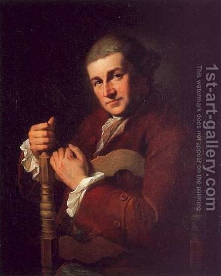 David Garrick 1717-79 by Angelica Kauffmann - Reproduction Oil Painting