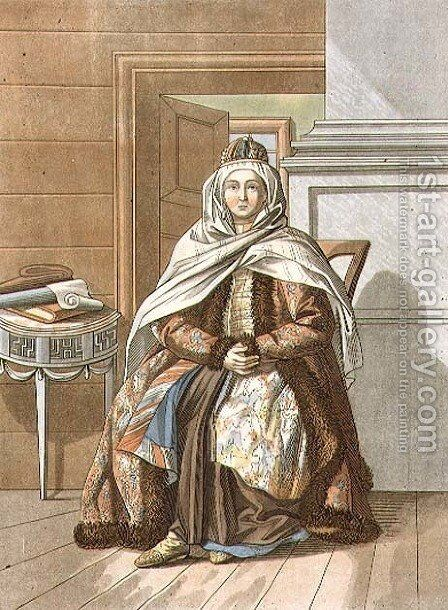 Tartar Woman from Tomsk by E. Karnejeff - Reproduction Oil Painting