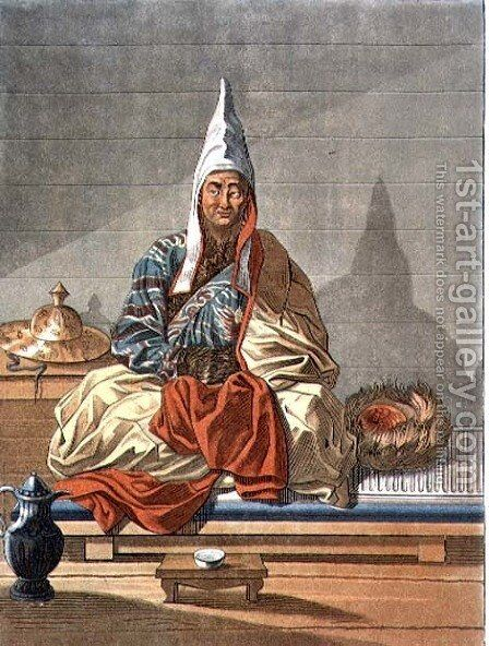 Lama of the Mongolian Tartars by E. Karnejeff - Reproduction Oil Painting
