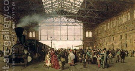 Nordwest Bahnhof Vienna by Carl Karger - Reproduction Oil Painting