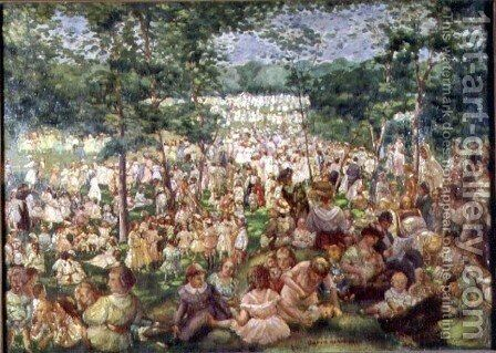 The May Party by David Karfunkle - Reproduction Oil Painting