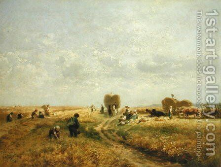 Harvest Time by Albert Kappis - Reproduction Oil Painting