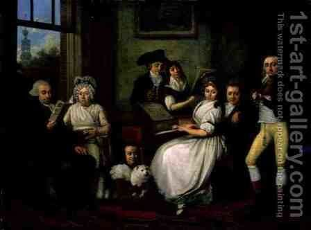 Family of Patriots in Amsterdam by Jan Kamphuijsen - Reproduction Oil Painting