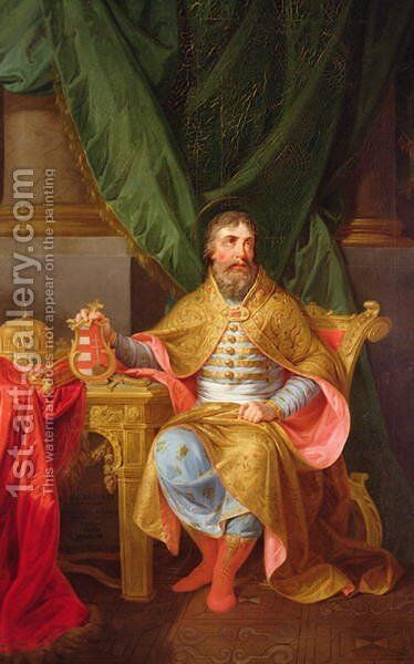 King Stephen by Anton Kalliauer - Reproduction Oil Painting