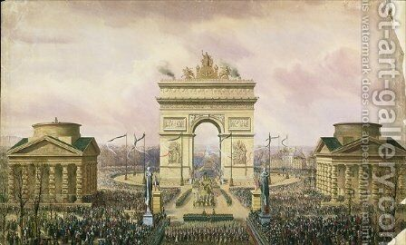 Return of the Ashes of the Emperor to Paris by Theodore Jung - Reproduction Oil Painting