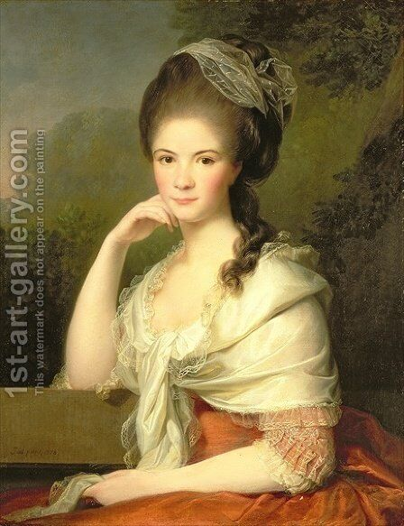 Portrait of a Woman by Jens Juel - Reproduction Oil Painting