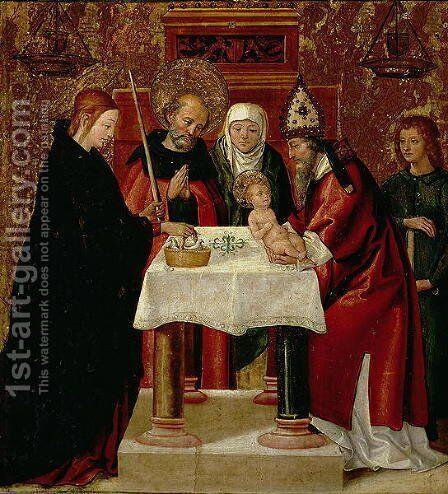 The Circumcision and The Presentation in the Temple by Borgona Juan de - Reproduction Oil Painting