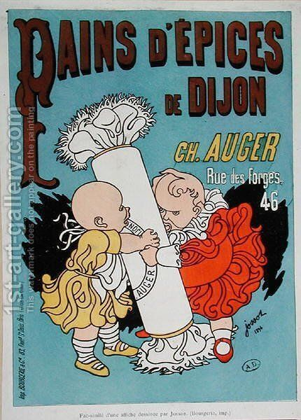 Poster advertising Dijon Pain dEpices by Henri Gustave Jossot - Reproduction Oil Painting