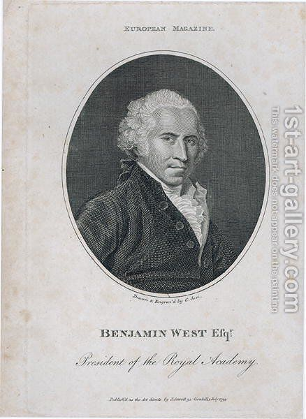 Portrait of Benjamin West 1738-1820 by Christian Josi - Reproduction Oil Painting