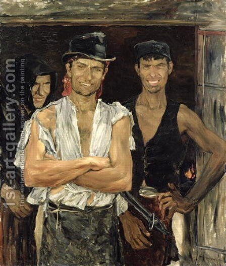 Spanish Smiths by Ernst Josephson - Reproduction Oil Painting