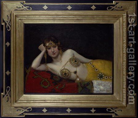 An Odalisque by Douglas Joseph - Reproduction Oil Painting
