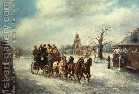 The Uxbridge Coach near Hillingdon by Henry Jones - Reproduction Oil Painting
