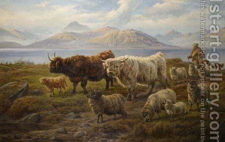 Autumn afternoon Loch Leven by Charles Jones - Reproduction Oil Painting