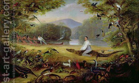 Charles Waterton capturing a cayman by Captain Edward Jones - Reproduction Oil Painting
