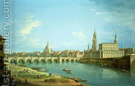 A View of Dresden by Antonio Joli - Reproduction Oil Painting