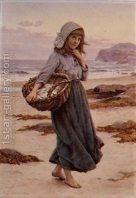 The Fishergirl by Henry James Johnstone - Reproduction Oil Painting