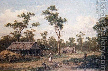 Bye Road near Seymour by Henry James Johnstone - Reproduction Oil Painting