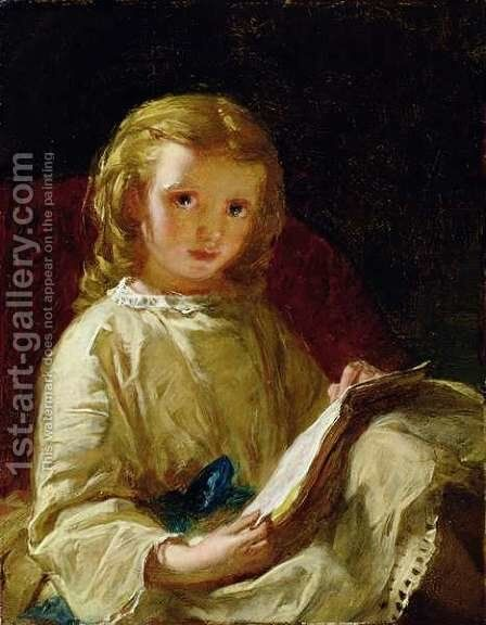 Reading by Alexander Johnston - Reproduction Oil Painting
