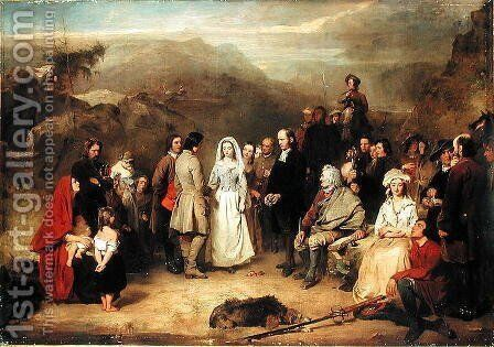 Marriage of the Covenanter by Alexander Johnston - Reproduction Oil Painting