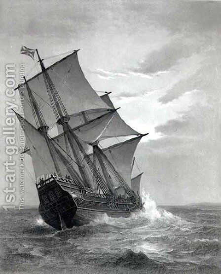 The Mayflower by (after) Johnson, Marshall - Reproduction Oil Painting