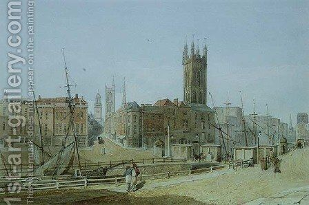 The Draw Bridge from St Augustines Bank Bristol by James Johnson - Reproduction Oil Painting