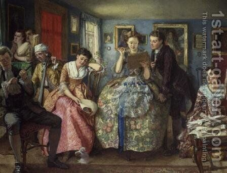 The recital by Edward Killingworth Johnson - Reproduction Oil Painting