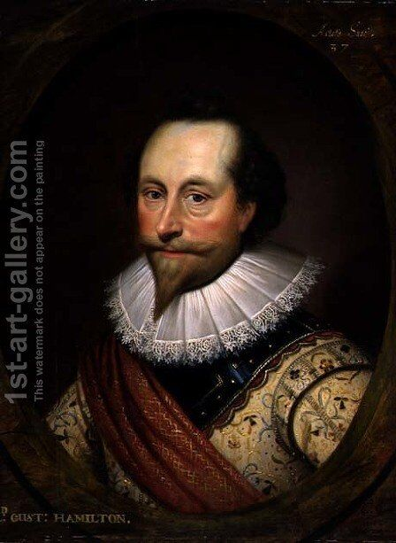 Sir Alexander Temple by Cornelis I Johnson - Reproduction Oil Painting