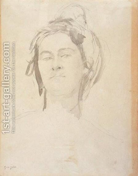 Head of a Young Woman by Gwen John - Reproduction Oil Painting