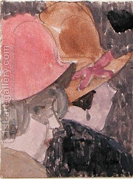 Two Female Heads by Gwen John - Reproduction Oil Painting