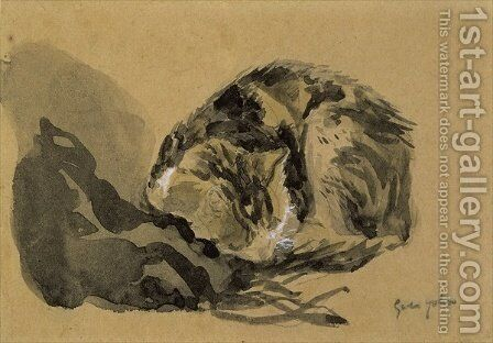 Study of a Cat by Gwen John - Reproduction Oil Painting
