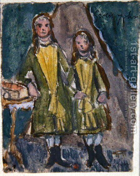 Victorian sisters by Gwen John - Reproduction Oil Painting