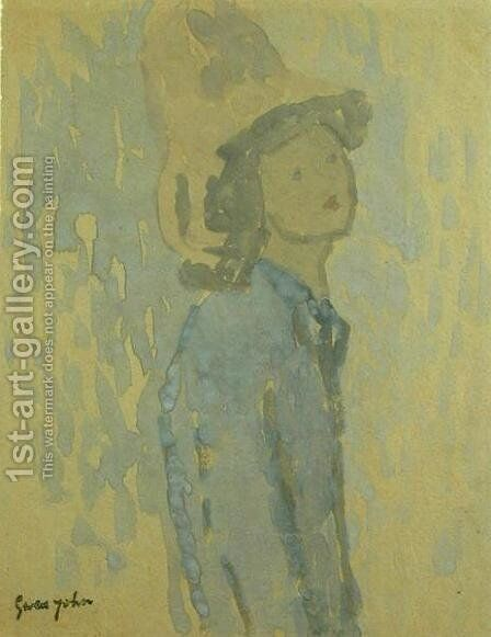 Girl with a Hat by Gwen John - Reproduction Oil Painting