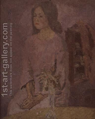 Girl in Rose by Gwen John - Reproduction Oil Painting