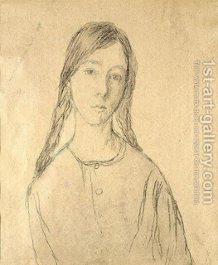 Self Portrait by Gwen John - Reproduction Oil Painting
