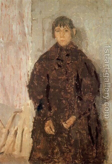 Girl in a Mulberry Dress by Gwen John - Reproduction Oil Painting