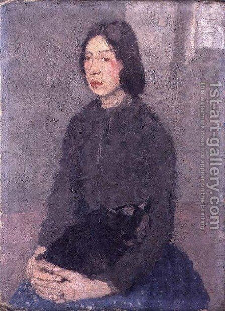 Girl with a Cat on her Lap by Gwen John - Reproduction Oil Painting