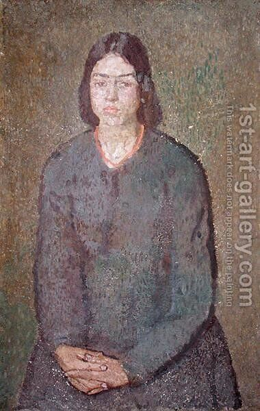 Girl in a Green Dress by Gwen John - Reproduction Oil Painting