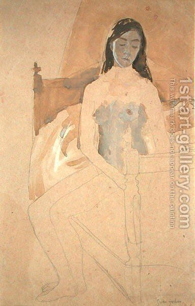 Self Portrait Naked by Gwen John - Reproduction Oil Painting