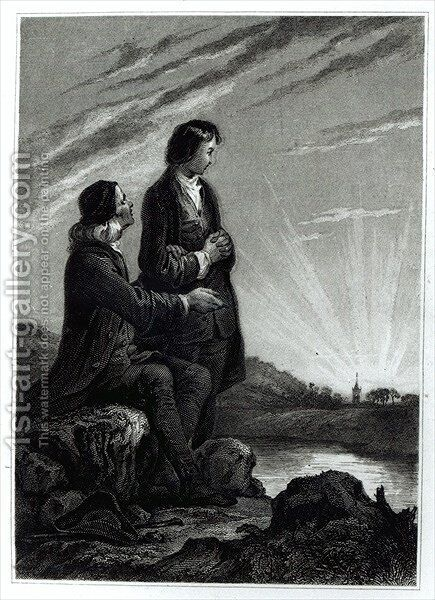 Illustration for Emile by (after) Johannot, Alfred - Reproduction Oil Painting