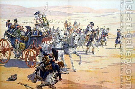 Napoleon 1769-1821 and his Troops in the Desert during the Egyptian Campaign by Jacques Onfray de Breville - Reproduction Oil Painting