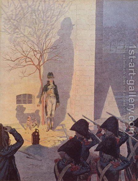 The Execution of the Duke of Enghien 1772-1804 by Jacques Onfray de Breville - Reproduction Oil Painting