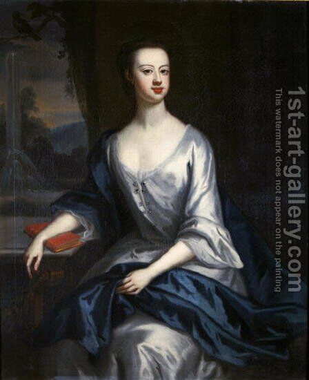 Portrait of a Lady thought to be Eleanor Verney by (attr. to) Jervas, Charles - Reproduction Oil Painting