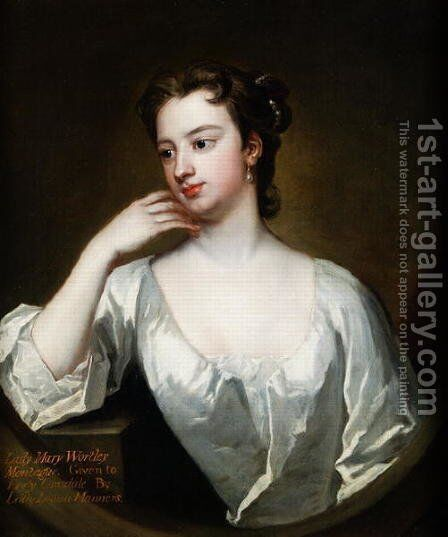 Lady Mary Wortley Montagu 1689-1762 by Charles Jervas - Reproduction Oil Painting