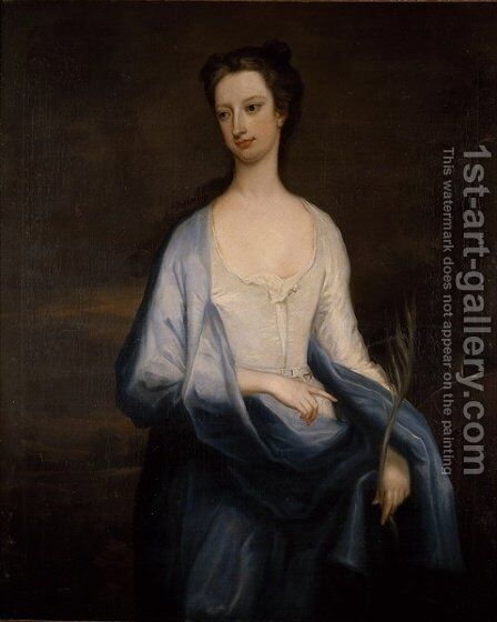 Portrait of Catherine Hoskins Duchess of Devonshire by Charles Jervas - Reproduction Oil Painting